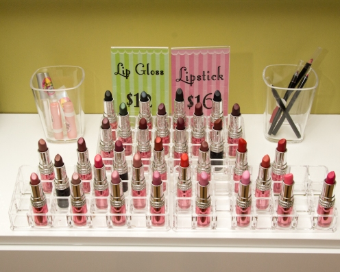 A dazzling array of lipsticks by Atomic Cosmetics. (POC Photo)