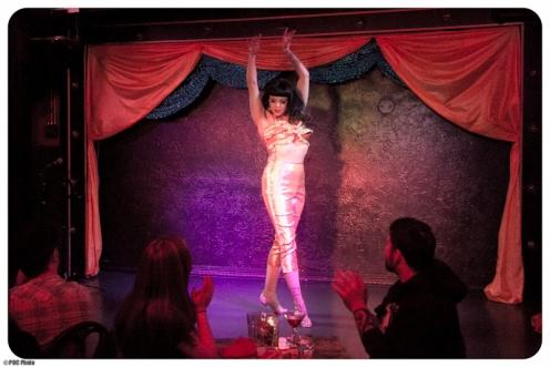 Lydia DeCarllo in a tribute to Rita Alexander, the Champagne Girl  (POC Photo)