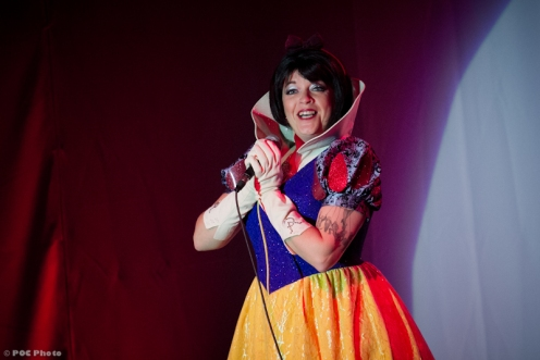 Emcee Cora Vette as Snow White