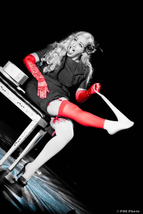 Sparkly Devil in 2011, competing for the title Reigning Queen of Burlesque in Las Vegas. (POC Photo)