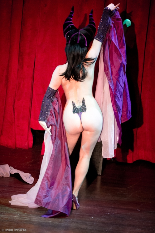 Bella as Maleficent in Stripped Screw Burlesque's Disney after Dark (POC Photo)