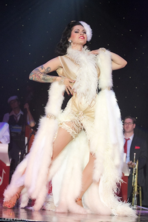 LouLou D'vil (Helsinki, Finland), performing at the 2011/3rd Annual New Orleans Burlesque Festival (POC Photo)