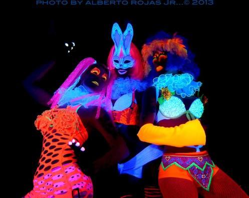 Maui's black light troupe The Ultraviolets