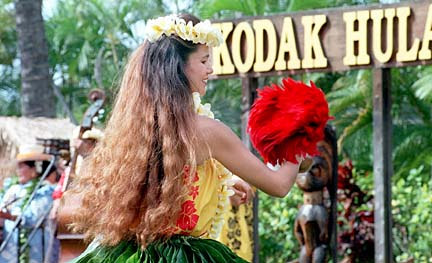 Image from the Kodak Hula Show in 1997 (Star-Bulletin, 1997)