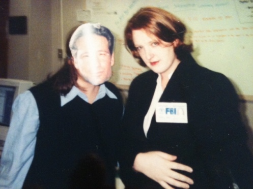 "Jo Jo Stiletto and ""David Duchovny"" in the 90s (Photo courtesy of Jo Jo Stiletto)"