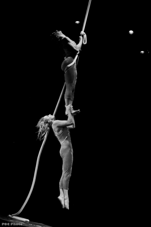Aerialists Martha Enson and Cathy Sutherland (Photo by POC)