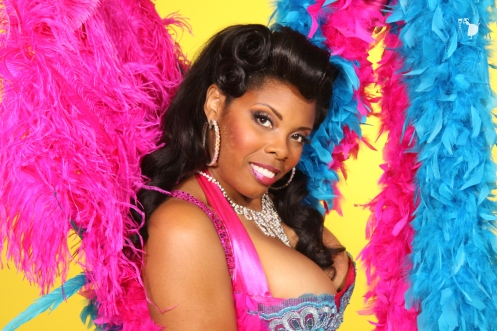 Donna Denise stars in Burlesque Royale.  (Photo credit pending, used by producer permission)