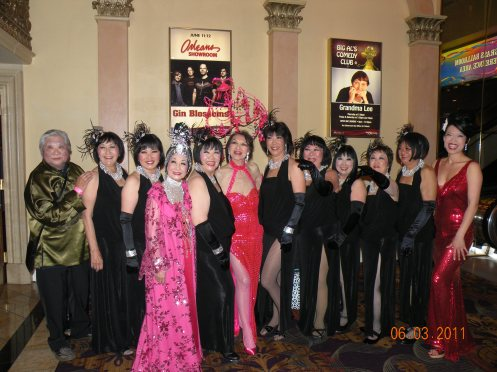 Shanghai with the ladies of Grant Avenue Follies in Las Vegas at The 2011 Burlesque Hall of Fame Weekend (Shanghai's personal photo)