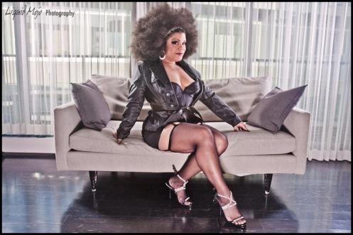 Foxy Tann stars in Burlesque Royale.  (Liquid Mojo Photography)