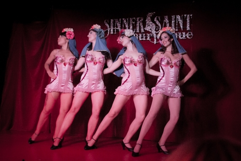 Sinner Saint Burlesque performed for the last time at Noc Noc on August 22. (POC Photo)