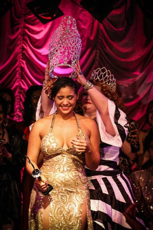 2013 Queen of Southern Exposure Iris Le'Mour being crowned by producer Big Mamma D (Photo by Ron Tencati)