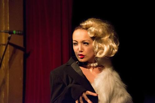 Bitsy Rini in La Petite Mort's Dark Cabaret-February  (by Greg Holloway)