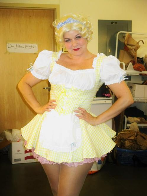 Kutie La Bootie as Adelaide from Guys and Dolls (Photo courtesy of Twelfth Night Productions)