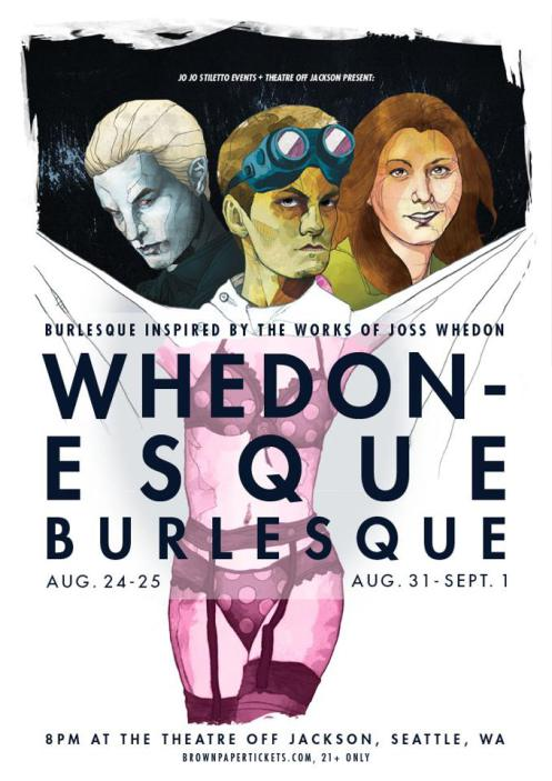 The 2012 poster for Whedonesque Burlesque