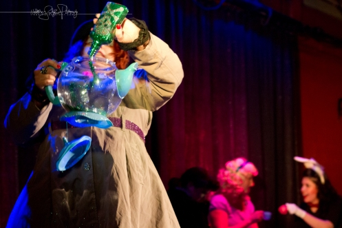 Vyxen VonWolfie and her mad tea party (Photo by Heather Schofner)